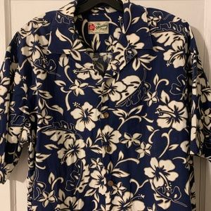 Vintage Hilo Hattie Hawaiian Camp Collar Shirt L